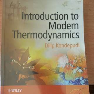 Introduction to Modern Thermodynamics(Kondepudi)