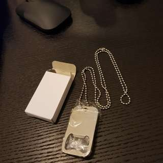 Bottle opener dog tag