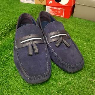 Pedro Loafer Shoe Suade Navy Blue