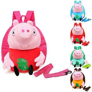 *FREE DELIVERY to WM only / Pre order 12-15 days* Peppa pig school anti loss bag 27*23*7cm each as design/color. Free delivery is applied for this item.