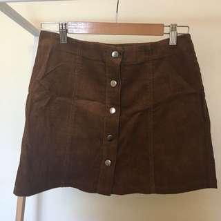 Dotti Tan Corduroy Skirt