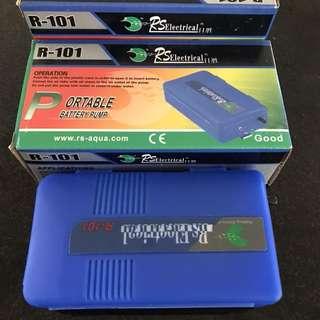 Portable battery air pump