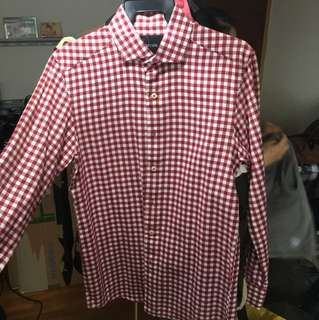 Marcella chequered red shirt