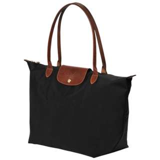 #12.12 Longchamp Le Pliage Tote Bag L - BLACK