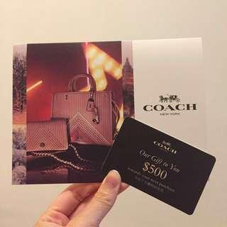 Coach$500 cash coupon