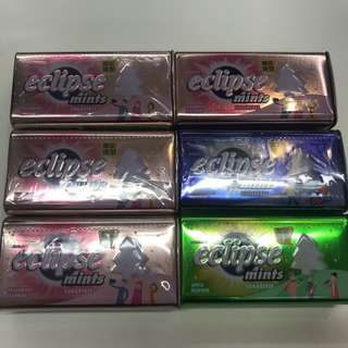 聖誕特別版 聖誕樹易極薄荷糖 eclipse mints 青蘋果味 桃味 橙味 提子味