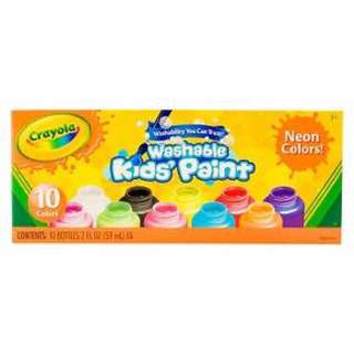 Crayola Kids' Paint Washable 10ct 2oz Neon Colors