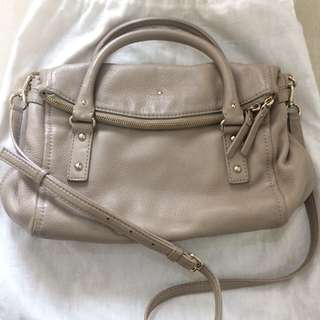 authentic kate spade cobble hill leslie small satchel warm putty