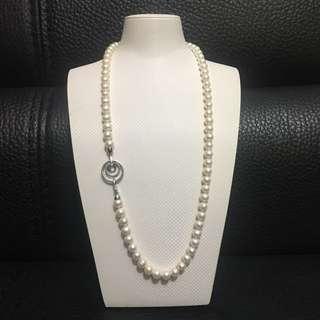 天然珍珠長頸鏈