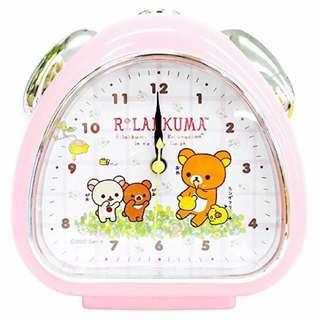 San-X鬆弛熊懶懶輕鬆熊家用卡通鬧鐘時尚家居睡房學生精美盒套裝