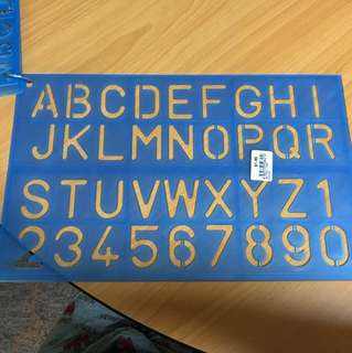 Brand new Alphabet and Number Stencil x2