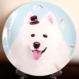 全新 西摩犬陶瓷餐碟 Samoyed porcelain plate