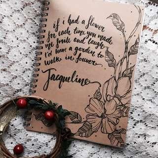 Christmas customised notebooks