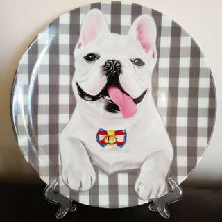 全新 法國老虎犬陶瓷餐碟 French bulldog porcelain plate