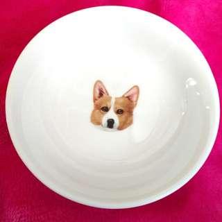 全新 威爾斯哥基醬油碟 Welsh Corgi porcelain plate(Small)