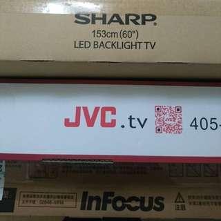 "Sharp 60"" JVC 55"" Infocus 45""吋液晶電視 限量 黑色購物節 costco 下標前請注意說明"