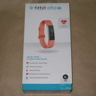 Fitbit Alta HR Heart Rate Wristband - Large (Pink) 全新