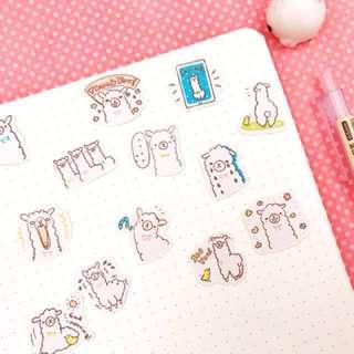 Little Llama Scrapbook / Planner Stickers #62