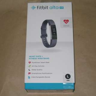 Fitbit Alta HR Heart Rate Wristband - Large (Grey) 全新