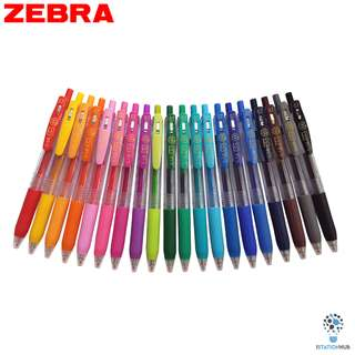 Zebra Sarasa Push Clip  | Retractable Gel Ink Pen Set | 0.7mm [YL-JJB15(20PCS/SET)]
