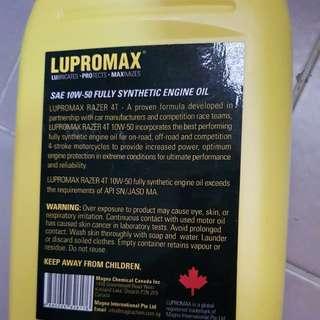 Lupromax 10W-50 fully sync oil