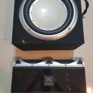Punch sub and JBL amp
