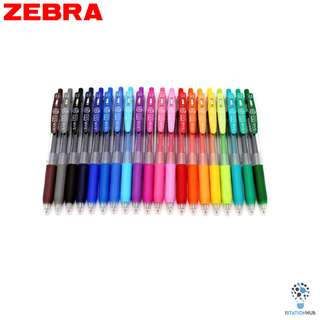 Zebra Sarasa Push Clip  | Retractable Gel Ink Pen Set | 0.5mm [YL-JJ15(20PCS/SET)]