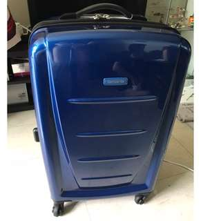 Brand New Samsonite Spinner 66/24 Expandable (Blue) - Given by American Express