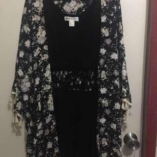 H & M Coachella black dress