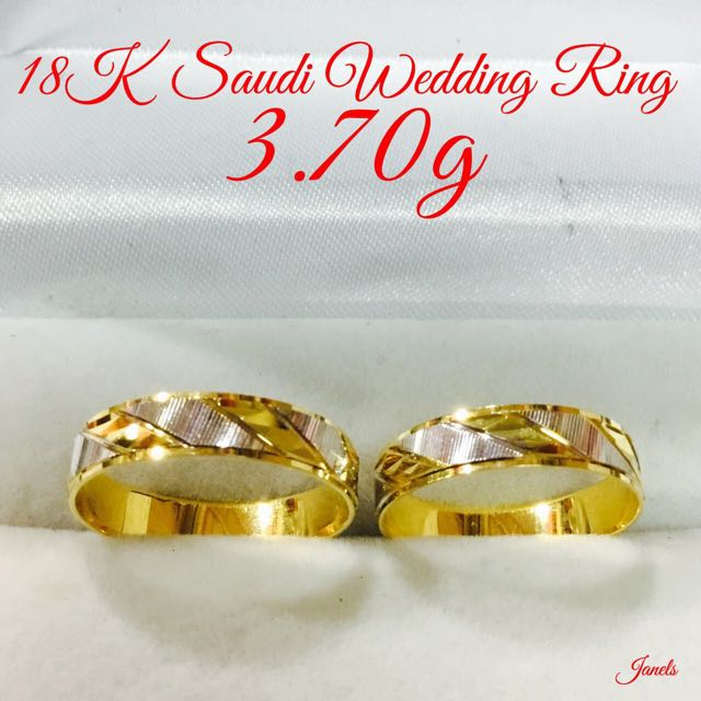 18k Saudi Gold Couple Ring Pair Women S Fashion Jewelry Rings On Carousell