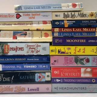 19 Softcover Romance Novels