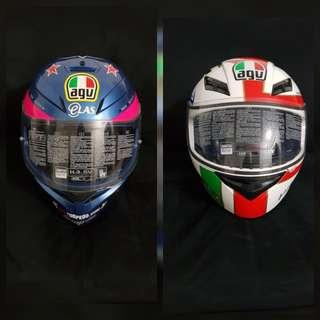 NEW: 2 AGV Full Face Helmets