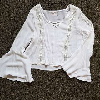 White Beach Blouse