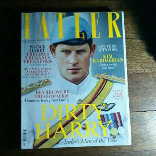 Prince Harry Tatler Magazine (November 2012)  Inside:  - Kim Kardashian - Suki Waterhouse