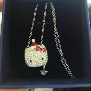 Swarovski hello kitty crystal neck lace Christmas gift merry Xmas 聖誕節禮物