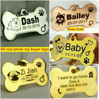10% OFF Customized Personalized Deep Engraving Pet ID Tag For Dog & Cat