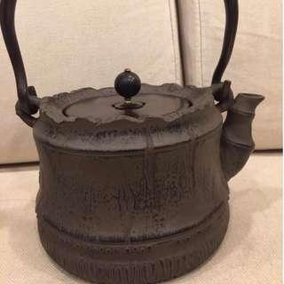 收藏 日本 手工 有落款 鐵壺 茶壺 茶葉 茶道