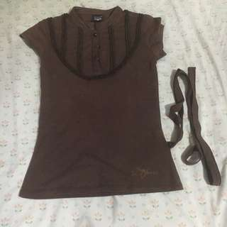 Brown Blouse (Brand: Jag)