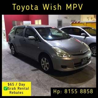 Toyota Wish MPV - Grab Car Rental