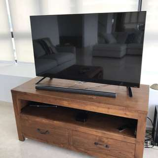 LG ultra HD TV with sound bar (model49UB820T)