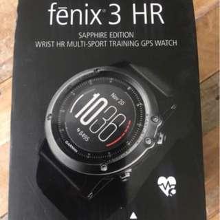 全新Garmin Fenix 3 HR Sapphire (藍鑽石版)