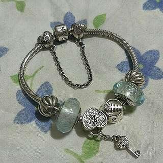 Authentic Pandora bracelet (full set)