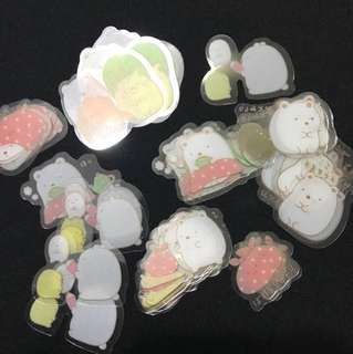 Cute sumikko gurashi sticker flakes