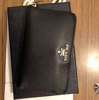 Prada Black Saffiano Wallet