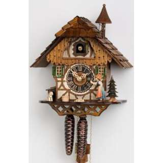 HONES Hand made Little black forest house Cuckoo clock