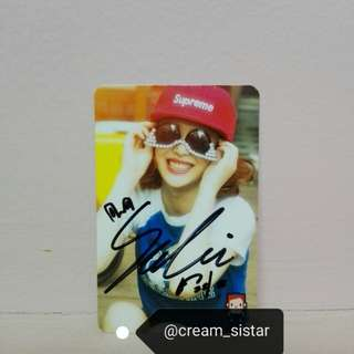 Clearing sell FX SULLI signed on card from fansign in Korea