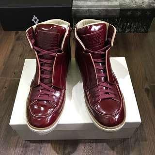 🚚 maison martin margiela 酒紅高筒鞋