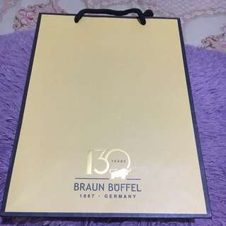 Paper bag 130 years Braun Buffel. NEW