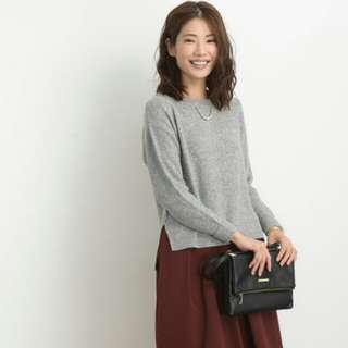 (New) 日本 Chocol Raffine Robe灰色長袖針織衫毛衣