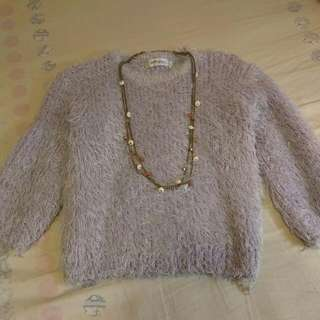 $70 Sweater & Necklace Set